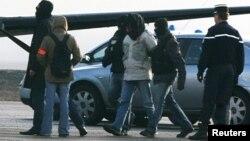 """El terrorista Aitzol Iriondo, alias """"Gurbitz"""", cuando fue capturado por la policía francesa."""