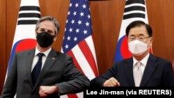 امریکی سیکرٹری خارجہ اینٹونی بلنکن کی جنوبی کوریائی ہم منصب سے ملاقات ۔ فوٹو ، رائٹرز