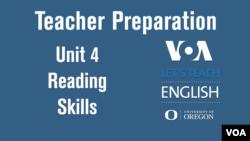 Let's Teach English Unit 4 - Reading Skills: Teacher Preparation