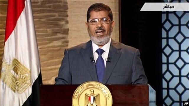 Rais wa Misri Mohammed Morsi.
