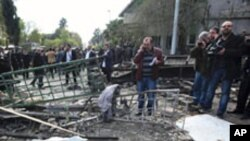 시리아 보안시설 폭파 현장
