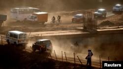 肯尼亚首都内罗毕的交通(资料照片)