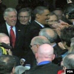 Predsjednik Barack Obama u Kongresu pred govor o Stanju nacije u januaru 2010. godine
