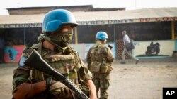 Les casques bleus à Goma, au Congo, juillet 2012. Image: AP