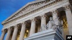 Le bâtiment de la Cour suprême à Washington DC, le 13 février 2016.