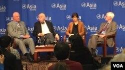 亚洲协会《中参馆》举行台湾大选后走向讨论会(美国之音方冰拍摄)