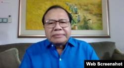 Ekonom senior, Rizal Ramli saat memberikan tanggapan tentang pandangan ekonomi Indonesia di 2021, Kamis 14 Januari 2021. (tangkapan layar)