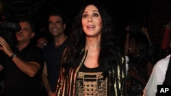 Singer Cher appears at Ultra Suede in West Hollywood, July 27, 2013.