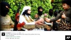 IŞİD'le bağlantılı bir Twitter hesabında yayınlanan bir görüntü