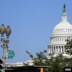Gedung parlemen Amerika Serikat, Capitol Hill, di Washington.