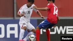 지난해 10월 칠레에서 열린 U-17 월드컵에서 북한과 코스타리카의 경기가 벌어졌다. (자료사진)