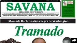"""Primeira página do semanário """"Savana"""""""