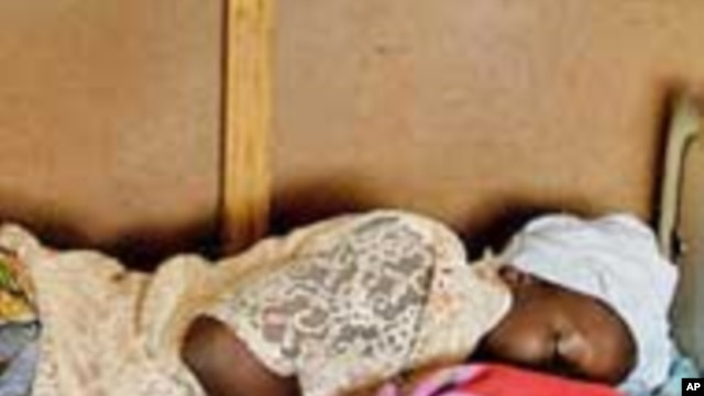 Sierra Leonean newborn, Mohammed, in Freetown, Sierra Leone