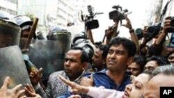 حمله پولیس برمعترضین بنگلادیشی
