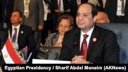 Egyptian President Abdel-Fattah el-Sissi attends the Arab League summit in the Red Sea resort of Sharm El-Sheikh, March 28, 2015.