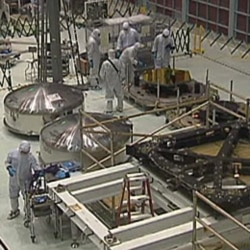 "The ""clean room"" where scientists at NASA's Goddard Space Center near Washington"