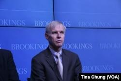 美国布鲁金斯学会东北亚政策中心主任卜睿哲(美国之音钟辰芳拍摄)。