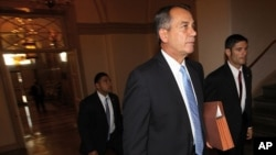 U.S. Speaker of the House John Boehner (R-OH) arrives at the U.S. Capitol July 28, 2011 in Washington, DC.
