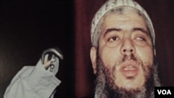 Abu Hamza al-Masri salah seorang ekstremis dan mantan imam di masjid London yang gagal dideportasi pemerintah Inggris (foto: dok.).