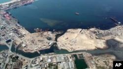 Vista aérea do Lobito