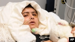 This image released by the University Hospitals Birmingham NHS Foundation Trust on October 19, 2012, shows 15-year-old Pakistani shooting victim Malala Yousufzai, who is recovering in Queen Elizabeth Hospital in Birmingham, England.