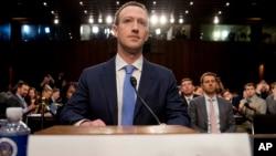Osnivač Facebooka Marc Zuckerberg svjedoči u Kongresu 10. aprila 2018.