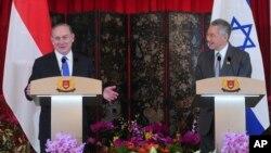 نخست وزیران سنگاپور و اسرائیل