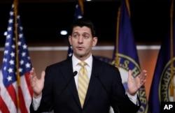 House Speaker Paul Ryan speaking at the Capitol last week.