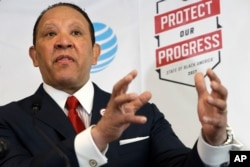 FILE - National Urban League CEO Marc Morial speaks about the 2017 State of Black America report at the National Urban League in Washington, May 2, 2017.
