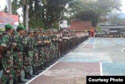 Apel Pergeseran Pasukan Pengamanan TPS Pemilu 2019 di Lapangan Upacara Mapolres Poso (15/4) (Foto: Humas Polres Poso)