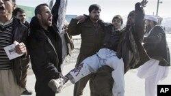 아프가니스탄 바그람 미 공군기지에서 코란을 소각한 일이 알려진 후 나흘째 계속되는 반미 시위.