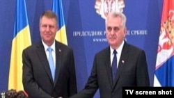 Predsednici Rumunije i Srbije, Klaus Verner Johanis i Tomislav Nikolić, tokom susreta u Beogradu