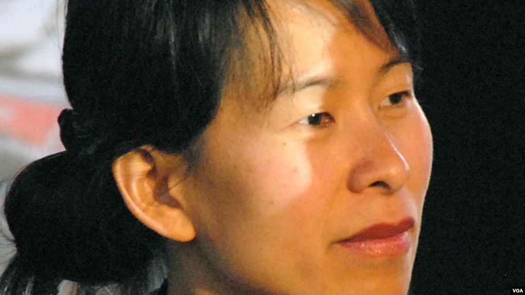 Nhà văn Kim Thúy tại Festival America, tháng 9, 2010. (Hình: Camille Gévaudan)