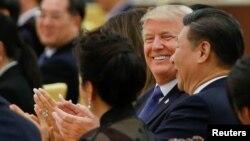 Tổng thống Trump và Chủ tịch Tập Cận Bình trong cuộc gặp tại Trung Quốc cuối năm 2017.
