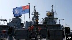 지난 15일 몬테네그로 바르항에 군함들이 정박해 있다. (자료사진)