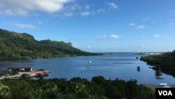 密克羅尼西亞聯邦的海灣。