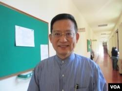台灣執政黨國民黨立委吳育昇。(美國之音張永泰拍攝)