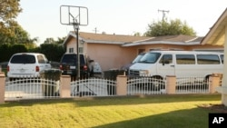 The home of the family of Sinh Vinh Ngo Nguyen, whom authorities say has pleaded guilty to attempting to assist al-Qaida terrorists in Pakistan, is seen in Garden Grove, California, Oct. 11, 2013.