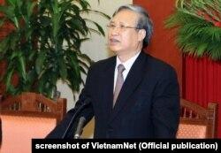 Ông Trần Quốc Vượng tại một hội nghị của đảng CSVN hồi năm 2018