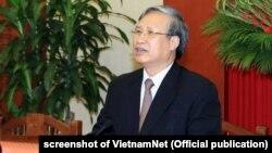 Ông Trần Quốc Vượng hiện phụ trách công tác chống tham nhũng của Đảng