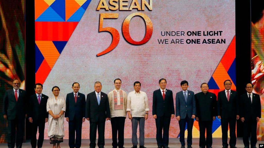 2017年8月8日菲律賓馬尼拉東盟外長會議閉幕式
