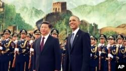 Başkan Obama ve Çin Devlet Başkanı Xi Jinping