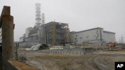 Четвертый энергоблок Чернобыльской АЭС (архивное фото)