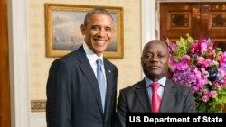 Barack Obama e José Mário Vaz na Casa Branca em 2014.