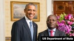 Barack Obama e José Mário Vaz