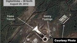 """Gambar satelit landasan peluncuran Misil Korea Utara yang dirilis oleh Website """"38 North"""" (Foto: dok)."""