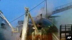 俄罗斯起火的潜艇