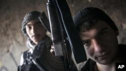 시리아 알레포 지역의 반군들