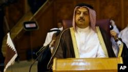 Menlu Qatar Khalid Bin Mohamed Al Attiyah menjanjikan bantuan 1 Miliar Dolar dari pemerintahnya untuk rekonstruksi Gaza (foto: dok).