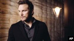 """Actor Chris Pratt, shown during a press day for """"Jurassic World"""" at Universal Studios in Universal City, Calif., on June 6, 2015, says that to play the role of raptor trainer Owen, he embraced the """"swagger"""" of the hero of one of Spielberg's most recogniza"""